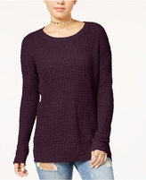 Ultra Flirt Juniors' Waffle-Knit Sweater