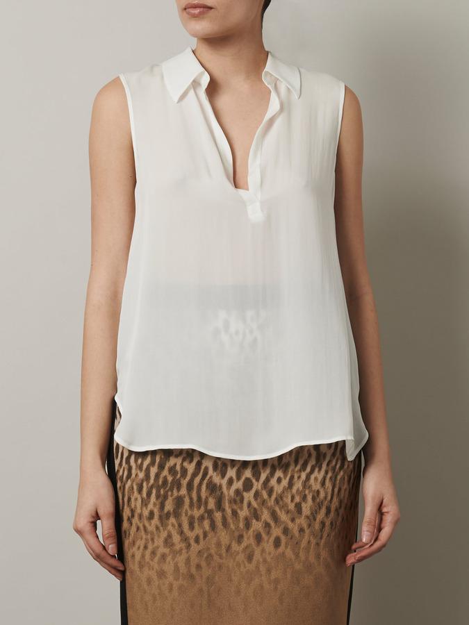 L'Agence Sleeveless blouse