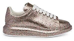 Alexander McQueen Men's Glittered Platform Sneakers