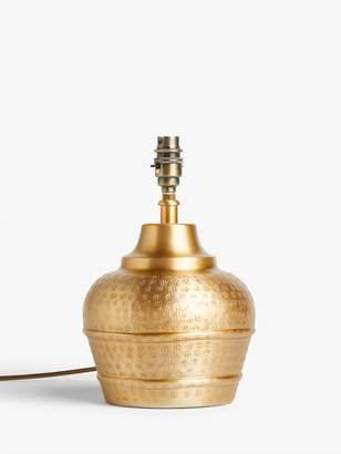 John Lewis & Partners Hand Stamped Lamp Base, H26cm