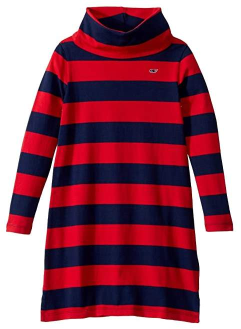 Vineyard Vines Kids Rugby Stripe Cowl Neck Dress (Toddler/Little Kids/Big Kids)