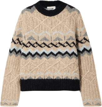 See by Chloe Fair Isle Cable-knit Sweater