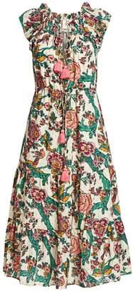 Figue Printed Cotton Midi Dress