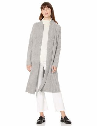 Amazon Essentials Women's Sweater Coat Light Grey Heather XXL