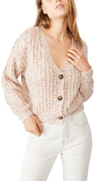 Cotton On Women's Multi Yarn Cropped Cardigan