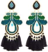 Mercedes Salazar 'Curubas' tassel threaded abstract drop clip earrings