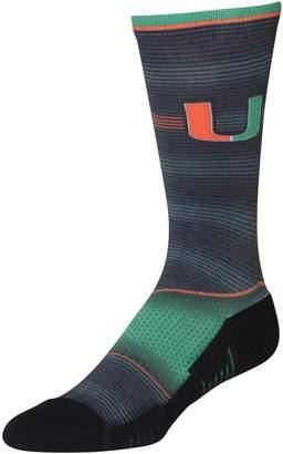 E.m. Unbranded Men's Rock Socks Miami Hurricanes Hyper Stripe Socks