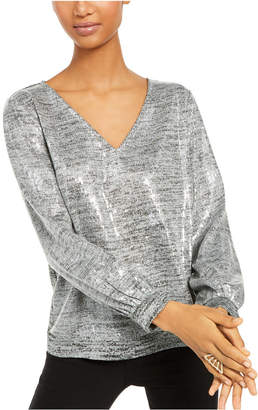INC International Concepts Inc Sequined Marled-Knit Top