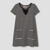 Say What Girls' Striped A Line Dress - Black/White
