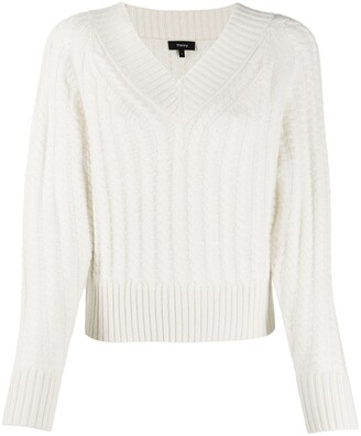 Theory Cable Knit Jumper