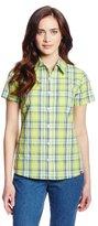 Dickies Women's Short Sleeve Poplin Plaid Shirt