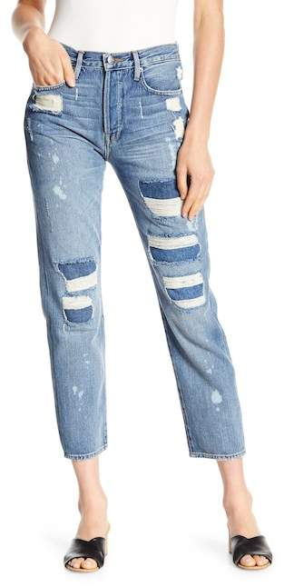 Frame Le Original Distressed Straight Leg Jeans