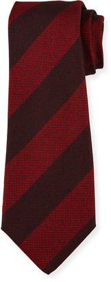 Kiton Men's Wide-Stripe Silk Tie