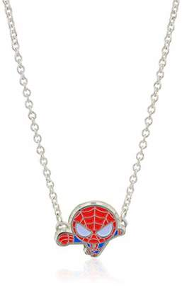 Marvel Comics Unisex Adult Spider Man Black IP Pendant Necklace with Stainless Steel Chain