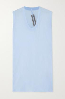 Rick Owens Cotton-jersey Tank - Light blue