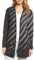 Nic+Zoe Petite Women's Graphic Waves Reversible Cardigan
