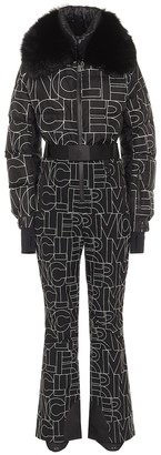 MONCLER GRENOBLE Logo fur-trimmed down ski suit
