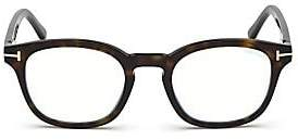 Tom Ford Women's 49MM Soft Square Tortoise Shell Optical Eyeglasses