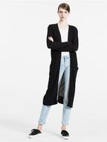 Calvin Klein Jeans Long Mesh-Panelled Cardigan