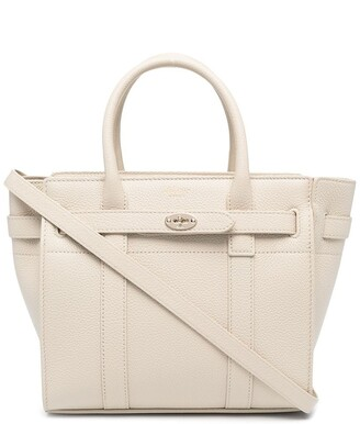 Mulberry mini Bayswater grained tote