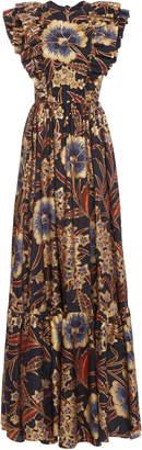 Ulla Johnson Antoinette Floral-Print Silk Maxi Dress