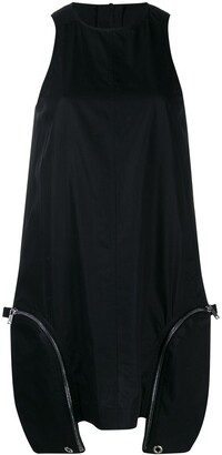 Rick Owens Zip Detail Sleevess Dress