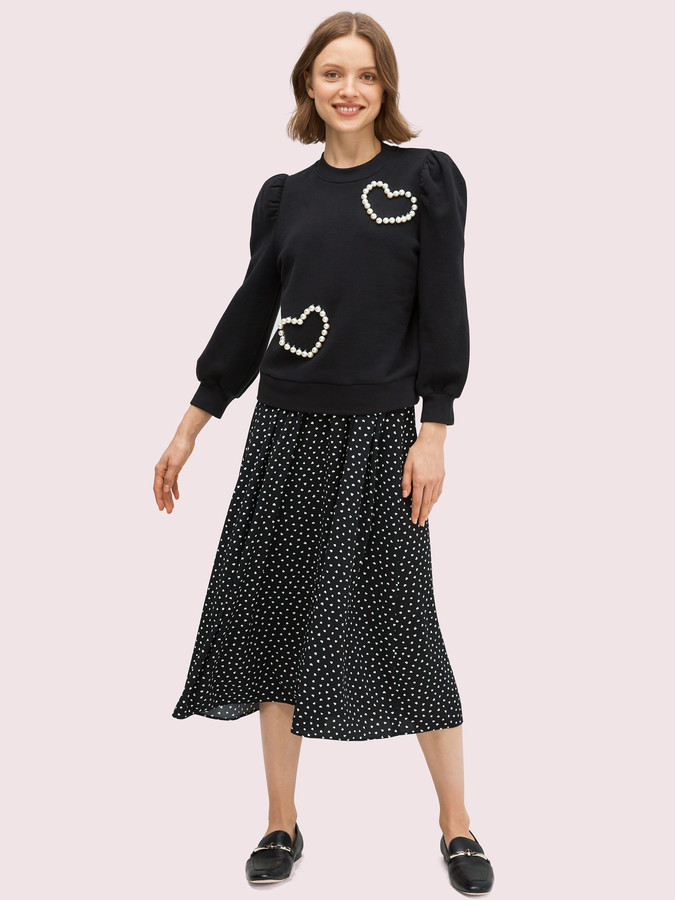 Pearl Pave Heart Sweatshirt
