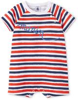 Petit Bateau Baby boy irregularly striped short coverall