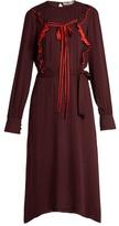 Preen Line Renata tie-front ruffle dress