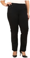Jag Jeans Plus Size Peri Pull On Straight Jeans in Black