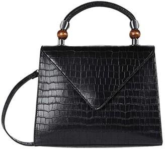 Who What Wear Shea (Black Croco) Handbags