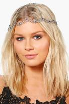 Boohoo Rachel Ornate Floral Bridal Hair Chain silver
