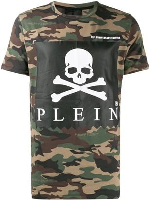 Philipp Plein Statement camouflage print T-shirt
