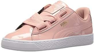 Puma Women's Basket Heart Patent Wn Sneaker Peach Beige