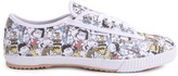 Feiyue All Over Snoopy Laced Canvas Sneakers