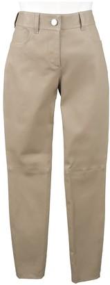 Balenciaga Beige Leather Trousers