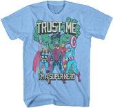 Novelty T-Shirts Marvel We Are Superheroes Short-Sleeve Tee