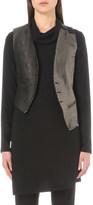 Ann Demeulemeester Asymmetric linen-blend waistcoat