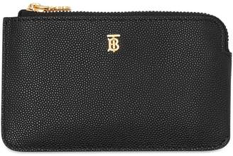 Burberry Monogram Leather Zip Coin Purse