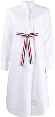 Thom Browne Shirt Dress With Waist Tie