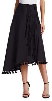 Altuzarra Basilica Pom Pom Asymmetrical A-line Skirt