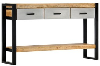 """Millwood Pines Veta 51.1"""" Solid Wood Console Table"""