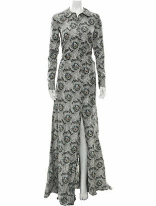 Brock Collection Silk Long Dress w/ Tags Grey