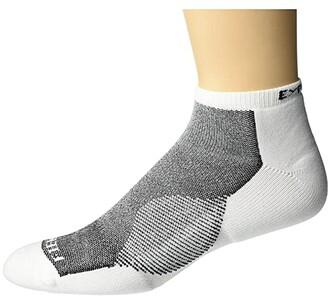 Thorlos Experia Fierce No Show Single Pair (White/Black) Crew Cut Socks Shoes