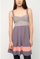Kimchi Blue Silky Pleated Colorblock Dress