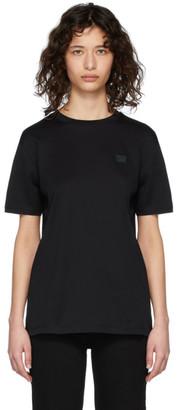 Acne Studios Black Nash Face T-Shirt