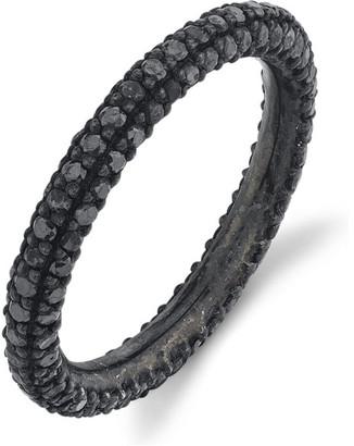 Black Diamond Sheryl Lowe 3-Row Pave Ring, Size 7