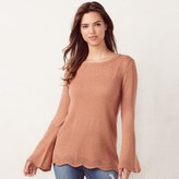 Lauren Conrad Women's Pointelle Crewneck Sweater