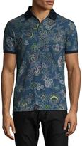 Etro Floral Pique Polo Shirt