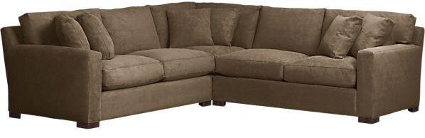 Crate & Barrel Axis 3-Piece Corner Sectional Sofa